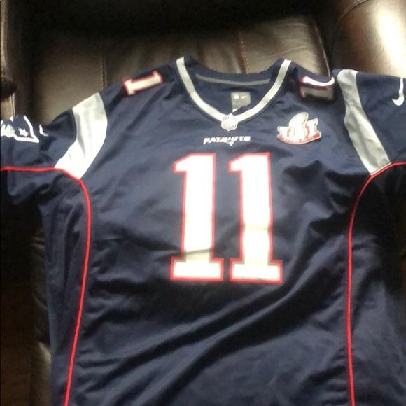 big sale a04f1 aaec3 Julian Edelman Super Bowl LI Jersey